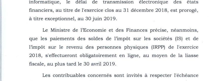 DGI : Les états financiers dorénavant transmis exclusivement par voie électronique
