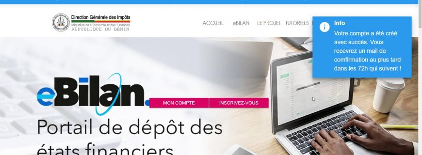 TUTORIEL POUR L'INSCRIPTION DES EXPERTS COMPTABLES SUR eBilan