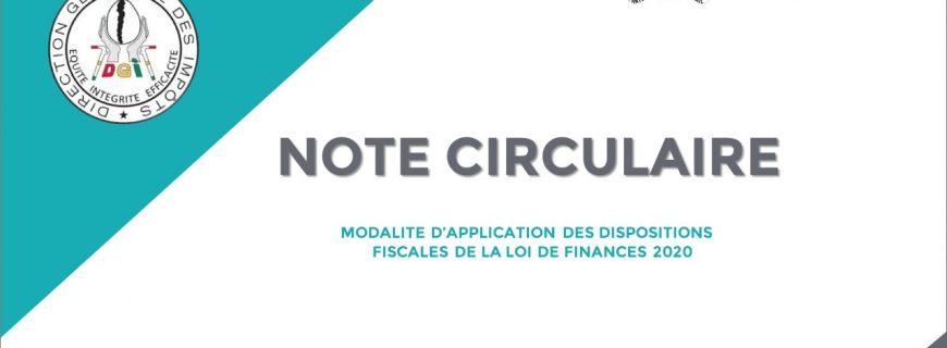 MODALITÉS D'APPLICATION DES DISPOSITIONS FISCALES DE LA LOI DE FINANCES 2020