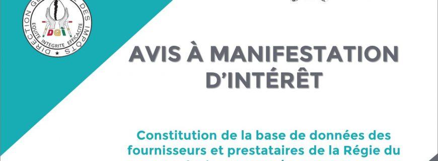 AVIS À MANIFESTATION D'INTÉRÊT-PARSF/FED 2020