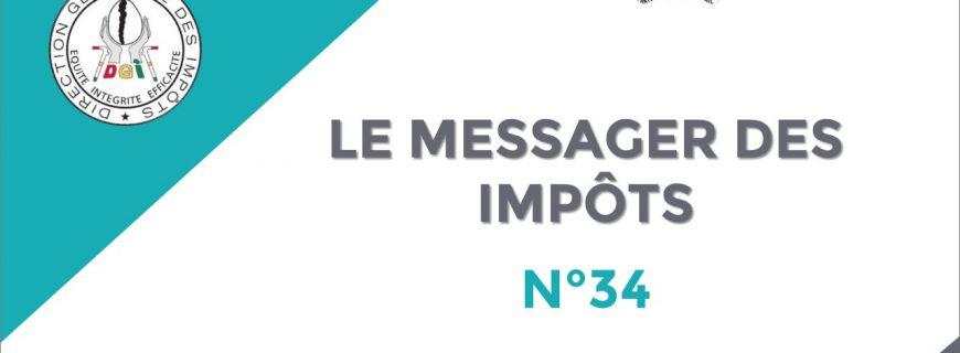 LE MESSAGER DES IMPÔTS N°34 EST DISPONIBLE