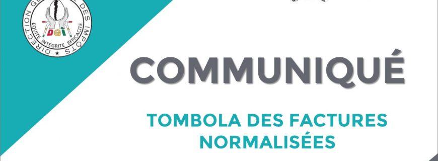 COMMUNIQUÉ TOMBOLA FACTURES NORMALISÉES