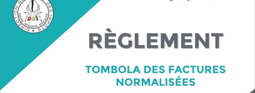 RÈGLEMENT DE LA TOMBOLA DES FACTURES NORMALISÉES
