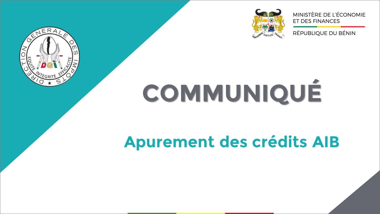 Communiqué : Déclarez vos crédits d'AIB en ligne jusqu'au 31 décembre 2020