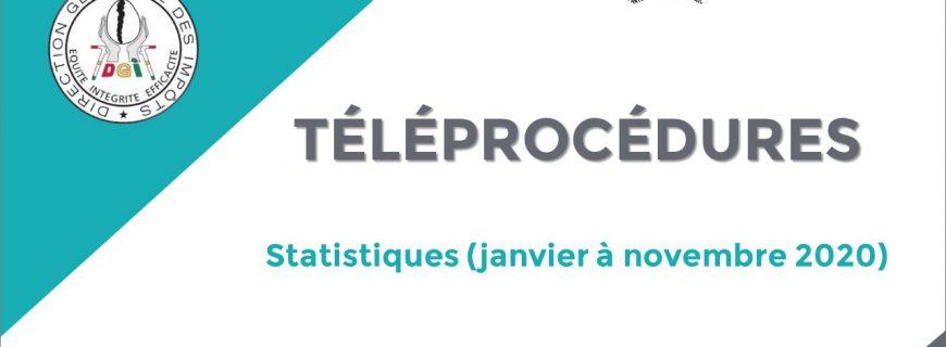 STATISTIQUES DES TÉLÉPROCÉDURES FISCALES DE JANVIER À NOVEMBRE 2020