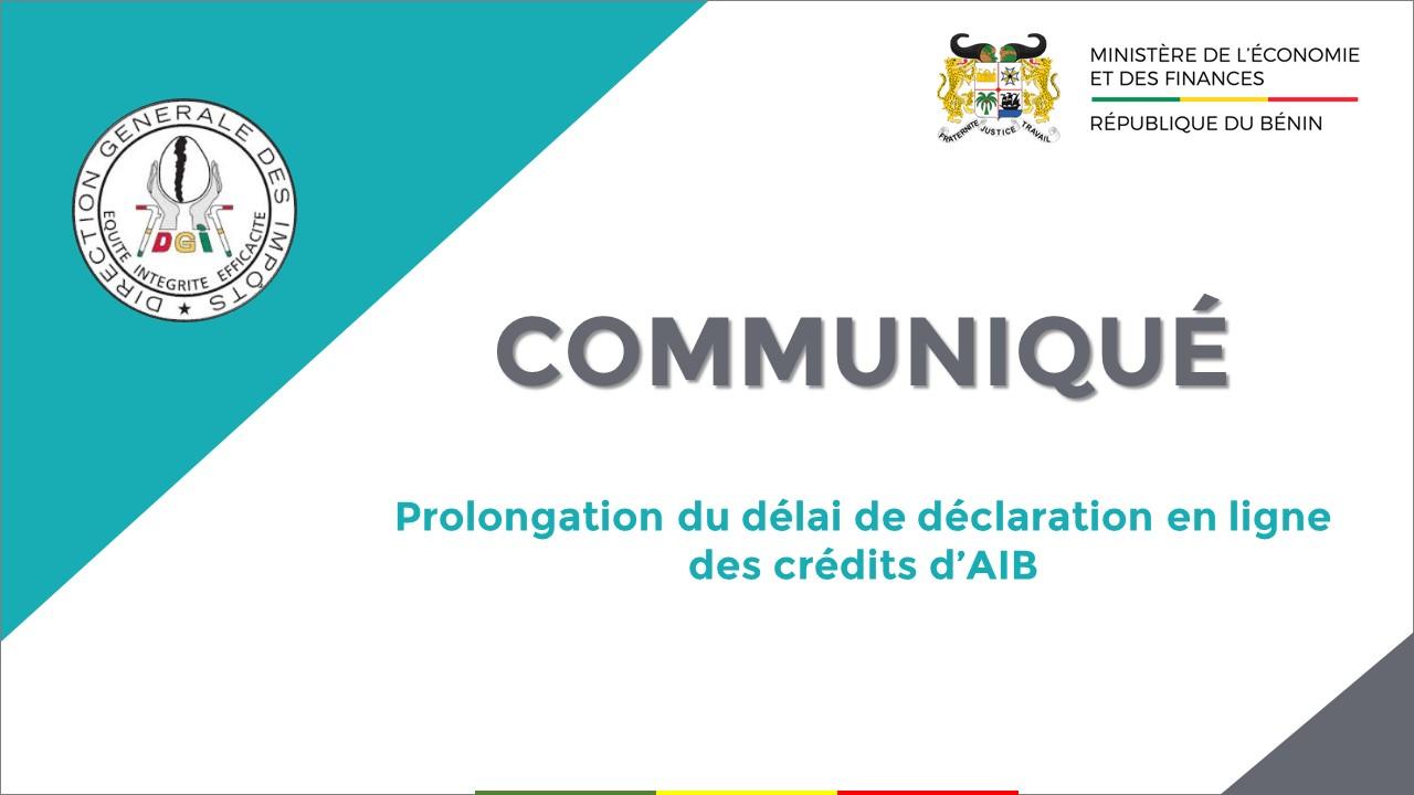 Déclaration en ligne des crédits d'AIB : le délai prolongé jusqu'au 31 janvier 2021