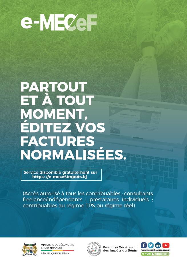 Plateforme e-MECeF : Pour l'émission de factures normalisées